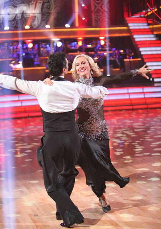 Tennis legend Martina Navratilova and her partner Tony Dovolani received 20 out of 30 points from the judges for their foxtrot on the season premiere of &#39;Dancing With The Stars,&#39; which aired on March 19, 2012. <span class=meta>(ABC Photo&#47; Adam Taylor)</span>