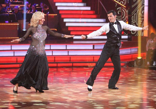 Tennis legend Martina Navratilova and her partner Tony Dovolani received 20 out of 30 points from the judges for their foxtrot on the season premiere of 'Dancing With The Stars,' which aired on March 19, 2012.