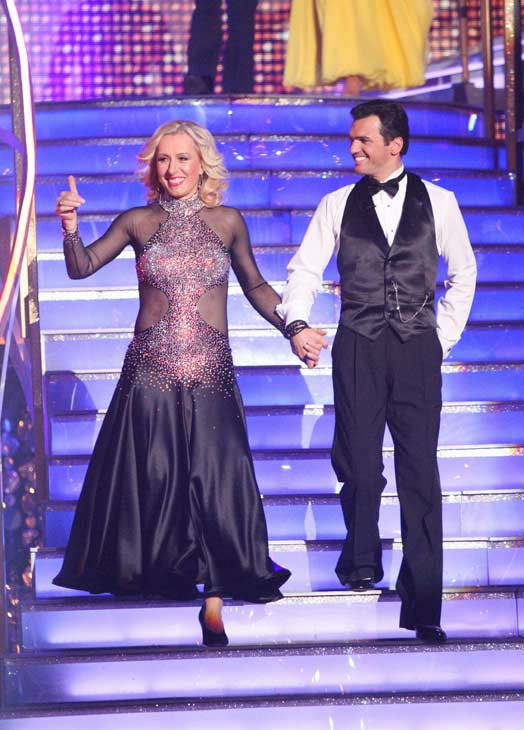 "<div class=""meta ""><span class=""caption-text "">Tennis legend Martina Navratilova and her partner Tony Dovolani received 20 out of 30 points from the judges for their foxtrot on the season premiere of 'Dancing With The Stars,' which aired on March 19, 2012. (ABC Photo/ Adam Taylor)</span></div>"