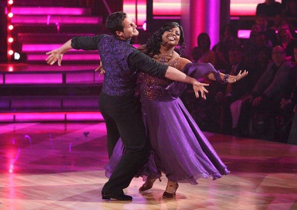 "<div class=""meta image-caption""><div class=""origin-logo origin-image ""><span></span></div><span class=""caption-text"">'The View' co-host Sherri Shepherd and her partner Valentin Chmerkovskiy received 23 out of 30 points from the judges for their foxtrot on the season premiere of 'Dancing With The Stars,' which aired on March 19, 2012. (ABC Photo/ Adam Taylor)</span></div>"