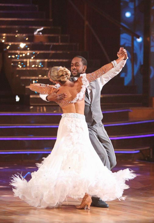 Jaleel White, who played Steve Urkel on &#39;Family Matters,&#39; and his partner Kym Johnson received 26 out of 30 points from the judges for their foxtrot on the season premiere of &#39;Dancing With The Stars,&#39; which aired on March 19, 2012. <span class=meta>(ABC Photo&#47; Adam Taylor)</span>