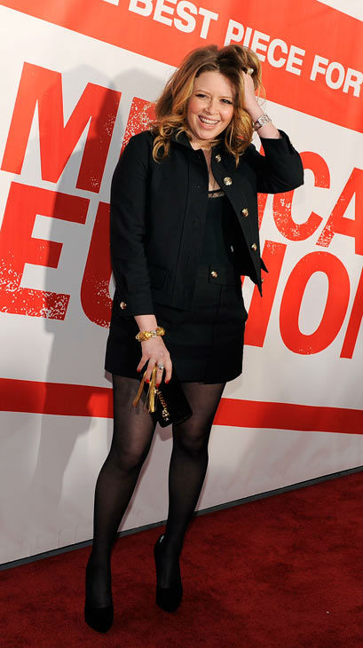 Natasha Lyonne, a cast member in 'American Reunion,' poses at the premiere of the film in Los Angeles, Monday, March 19, 2012. The film is released in theaters on April 6.