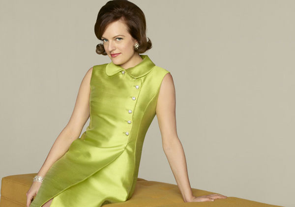Elisabeth Moss (Peggy Olson) appears in a promotional photo for season five of AMC's 'Mad Men,' which premieres on March 25, 2012.