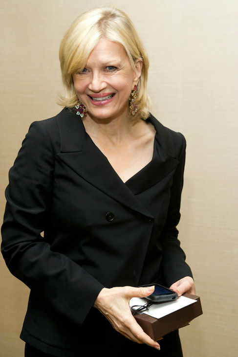 Diane Sawyer attends Aretha Franklin's...
