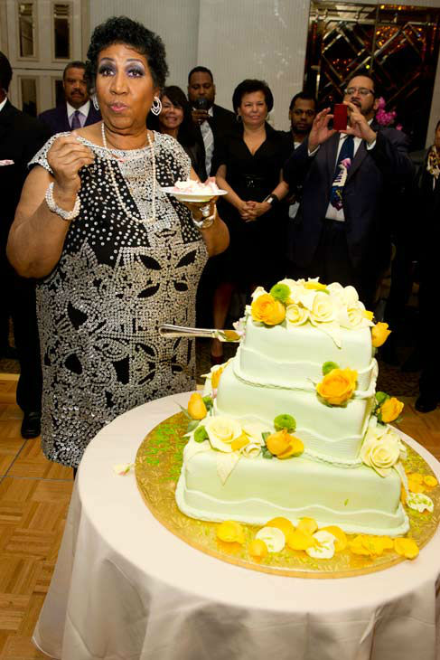 Aretha Franklin attends her seventieth birthday...
