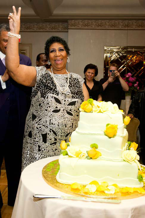 Aretha Franklin attends her seventieth birthday party in New York, Saturday, March 24, 2012.  <span class=meta>(AP Photo&#47; Charles Sykes)</span>