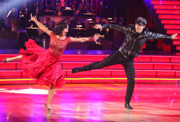 Singer Gavin DeGraw  and his partner Karina Smirnoff received 21 out of 30 points f