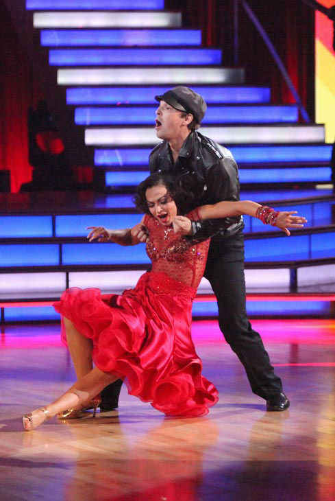 Singer Gavin DeGraw  and his partner Karina Smirnoff received 21 out of 30 points from the judges for their jive on week two of 'Dancing With The Stars,' which aired on March 26, 2012.