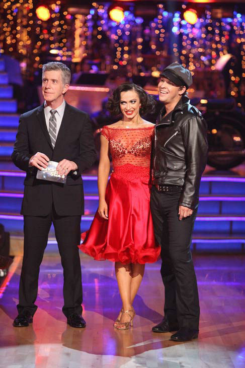Singer Gavin DeGraw  and his partner Karina Smirnoff received 21 out of 30 points from the judges for their jive on week two of &#39;Dancing With The Stars,&#39; which aired on March 26, 2012. <span class=meta>(ABC Photo&#47; Adam Taylor)</span>