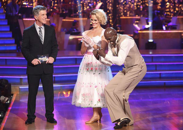 Football star Donald Driver and his partner Peta Murgatroyd received 24 out of 30 points from the judges for their quickstep on week two of 'Dancing With The Stars,' which aired on March 26, 2012.