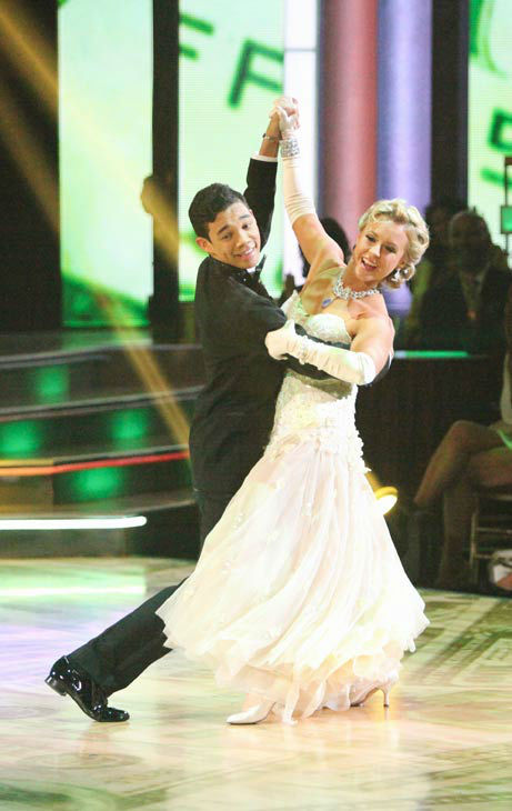 Disney Channel star Roshon Fegan and his partner Chelsie Hightower received 26 out of 30 points from the judges for their quickstep on week two of &#39;Dancing With The Stars,&#39; which aired on March 26, 2012. <span class=meta>(ABC Photo&#47; Adam Taylor)</span>