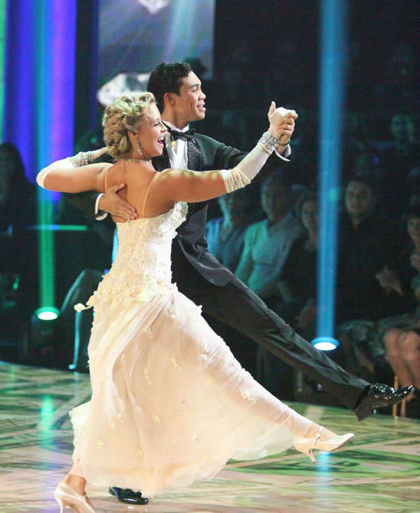 Disney Channel star Roshon Fegan and his partner Chelsie Hightower received 26 out of 30 points from the judges for their quickstep on week two of 'Dancing With The Star