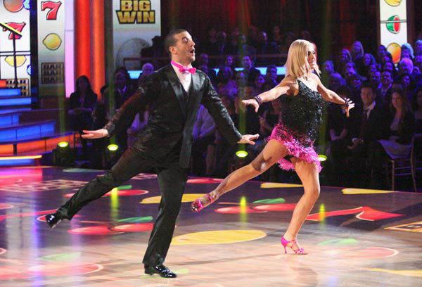 Classical singer Katherine Jenkins and her partner Mark Ballas received 26 out of 30 points from the judges for their jive on week two of 'Dancing With The Stars,' which aired on March 26, 2012.