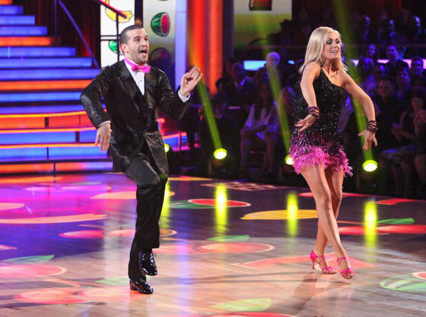 Classical singer Katherine Jenkins and her partner Mark Ballas received 26 out of 30 poin
