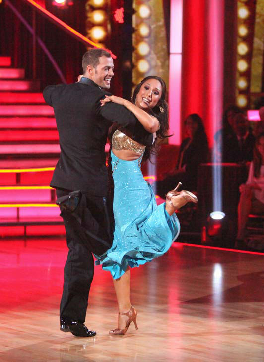 "<div class=""meta ""><span class=""caption-text "">Telenovela star William Levy and his partner Cheryl Burke received 25 out of 30 points from the judges for their quickstep on week two of 'Dancing With The Stars,' which aired on March 26, 2012. (ABC Photo/ Adam Taylor)</span></div>"