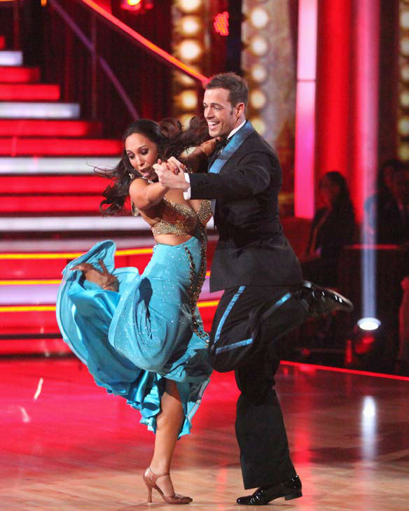 Telenovela star William Levy and his partner Cheryl Burke received 25 out of 30 points from the judges for their quickstep on week two of 'Dancing With The Stars,' which aired on March 26, 2012.