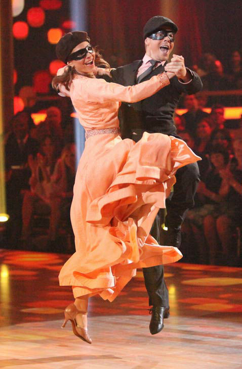 TV personality Maria Menounos and her partner Derek Hough received 25 out of 30 points from the judges for their quickstep on week two of 'Dancing With The Stars,' which aired on March 26, 2012.