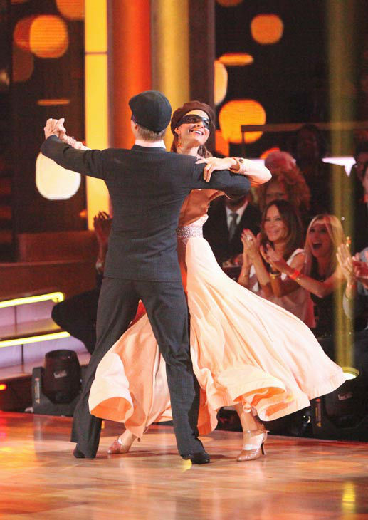"<div class=""meta ""><span class=""caption-text "">TV personality Maria Menounos and her partner Derek Hough received 25 out of 30 points from the judges for their quickstep on week two of 'Dancing With The Stars,' which aired on March 26, 2012. (ABC Photo/ Adam Taylor)</span></div>"