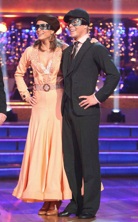 "<div class=""meta image-caption""><div class=""origin-logo origin-image ""><span></span></div><span class=""caption-text"">TV personality Maria Menounos and her partner Derek Hough received 25 out of 30 points from the judges for their quickstep on week two of 'Dancing With The Stars,' which aired on March 26, 2012. (ABC Photo/ Adam Taylor)</span></div>"