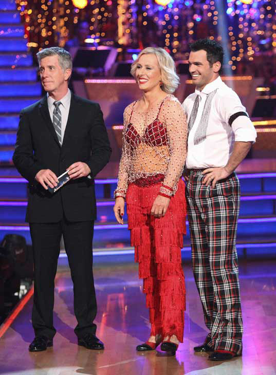 "<div class=""meta image-caption""><div class=""origin-logo origin-image ""><span></span></div><span class=""caption-text"">Tennis legend Martina Navratilova and her partner Tony Dovolani received 17 out of 30 points from the judges for their jive on week two of 'Dancing With The Stars,' which aired on March 26, 2012. (ABC Photo/ Adam Taylor)</span></div>"