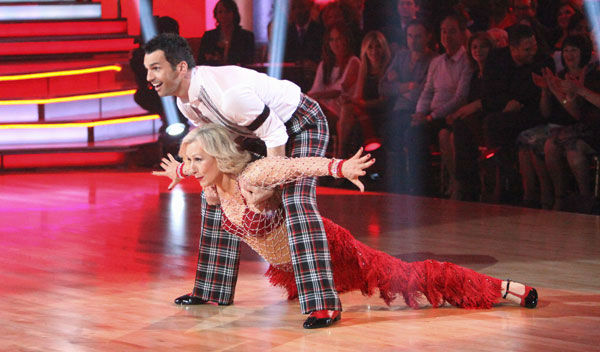 "<div class=""meta ""><span class=""caption-text "">Tennis legend Martina Navratilova and her partner Tony Dovolani received 17 out of 30 points from the judges for their jive on week two of 'Dancing With The Stars,' which aired on March 26, 2012. (ABC Photo/ Adam Taylor)</span></div>"