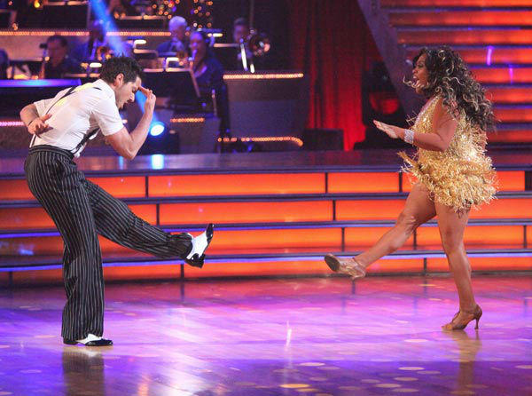 &#39;The View&#39; co-host Sherri Shepherd and her partner Valentin Chmerkovskiy received 23 out of 30 points from the judges for their jive on week two of &#39;Dancing With The Stars,&#39; which aired on March 26, 2012. <span class=meta>(ABC Photo&#47; Adam Taylor)</span>