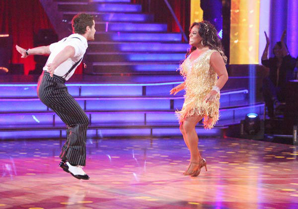 "<div class=""meta image-caption""><div class=""origin-logo origin-image ""><span></span></div><span class=""caption-text"">'The View' co-host Sherri Shepherd and her partner Valentin Chmerkovskiy received 23 out of 30 points from the judges for their jive on week two of 'Dancing With The Stars,' which aired on March 26, 2012. (ABC Photo/ Adam Taylor)</span></div>"