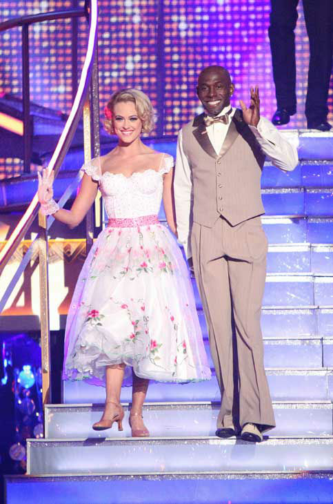 Football star Donald Driver and his partner Peta Murgatroyd received 24 out of 30 points from the judges for their quickstep on week two of &#39;Dancing With The Stars,&#39; which aired on March 26, 2012. <span class=meta>(ABC Photo&#47; Adam Taylor)</span>