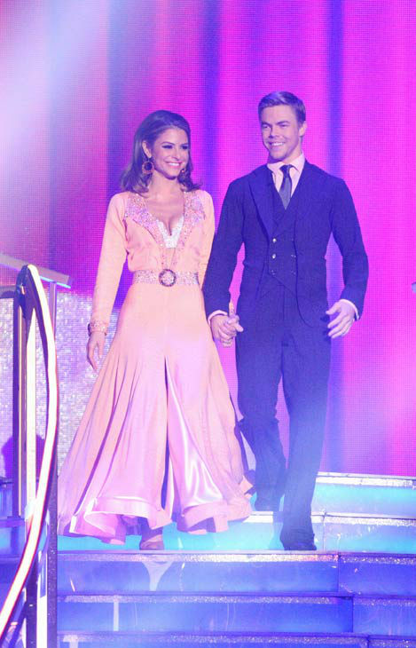 TV personality Maria Menounos and her partner Derek Hough received 25 out of 30 points from the judges for their quickstep on week two of &#39;Dancing With The Stars,&#39; which aired on March 26, 2012. <span class=meta>(ABC Photo&#47; Adam Taylor)</span>