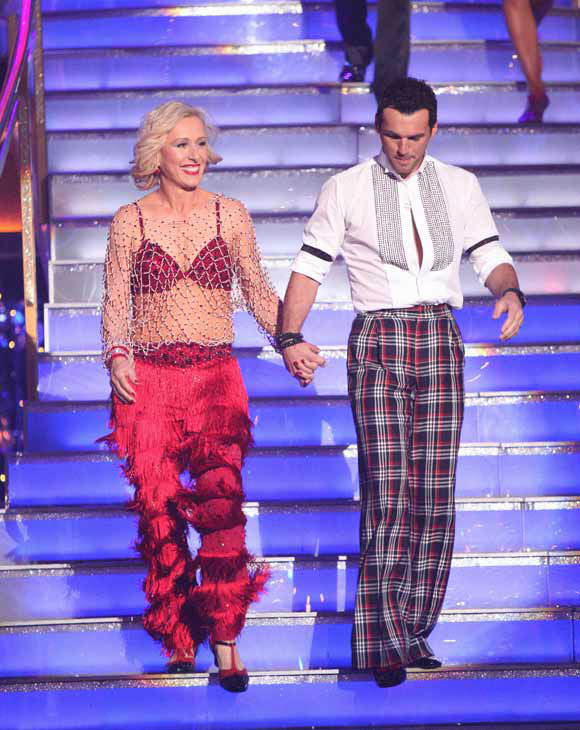 Tennis legend Martina Navratilova and her partner Tony Dovolani received 17 out of 30 points from the judges for their jive on week two of 'Dancing With The Stars,' which aired on March 26, 2012.