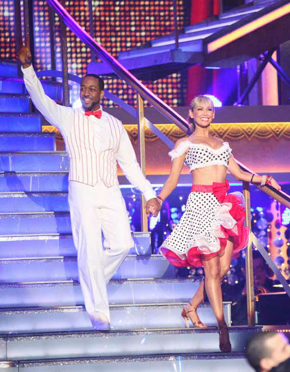 "<div class=""meta ""><span class=""caption-text "">Jaleel White, who played Steve Urkel on 'Family Matters,' and his partner Kym Johnson received 22 out of 30 points from the judges for their jive on week two of 'Dancing With The Stars,' which aired on March 26, 2012. (ABC Photo/ Adam Taylor)</span></div>"