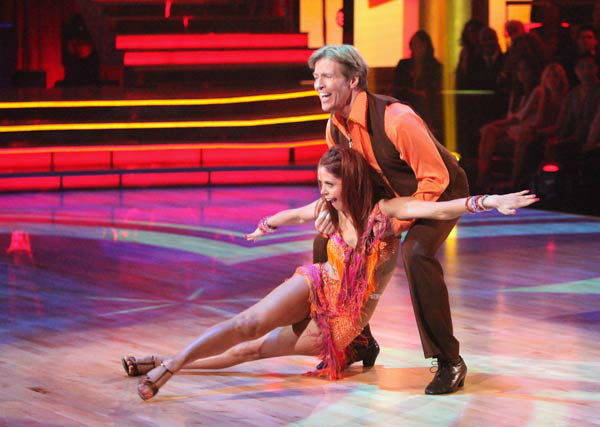 Jack Wagner, formerly of &#39;Melrose Place,&#39; and his partner Anna Trebunskaya received 21 out of 30 points from the judges for their jive on week two of &#39;Dancing With The Stars,&#39; which aired on March 26, 2012. <span class=meta>(ABC Photo&#47; Adam Taylor)</span>