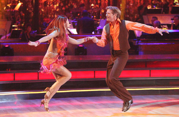 Jack Wagner, formerly of 'Melrose Place,' and his partner Anna Trebunskaya received 21 out of 30 points from the judges for their jive on week two of 'Dancing With The Stars,' which aired on March 26, 2012.