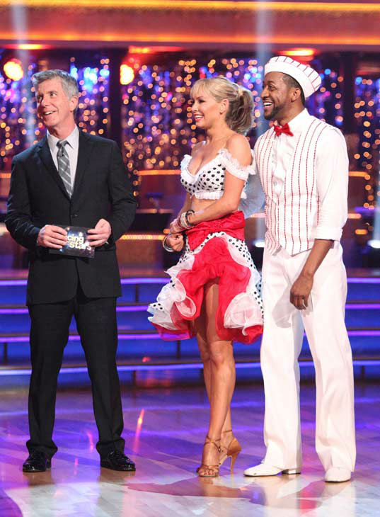 Jaleel White, who played Steve Urkel on &#39;Family Matters,&#39; and his partner Kym Johnson received 22 out of 30 points from the judges for their jive on week two of &#39;Dancing With The Stars,&#39; which aired on March 26, 2012. <span class=meta>(ABC Photo&#47; Adam Taylor)</span>