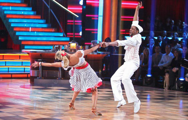 Jaleel White, who played Steve Urkel on 'Family Matters,' and his partner Kym Johnson received 22 out of 30 points from the judges for their jive on week two of 'Dancing With The Stars,' which aired on March 26, 2012.