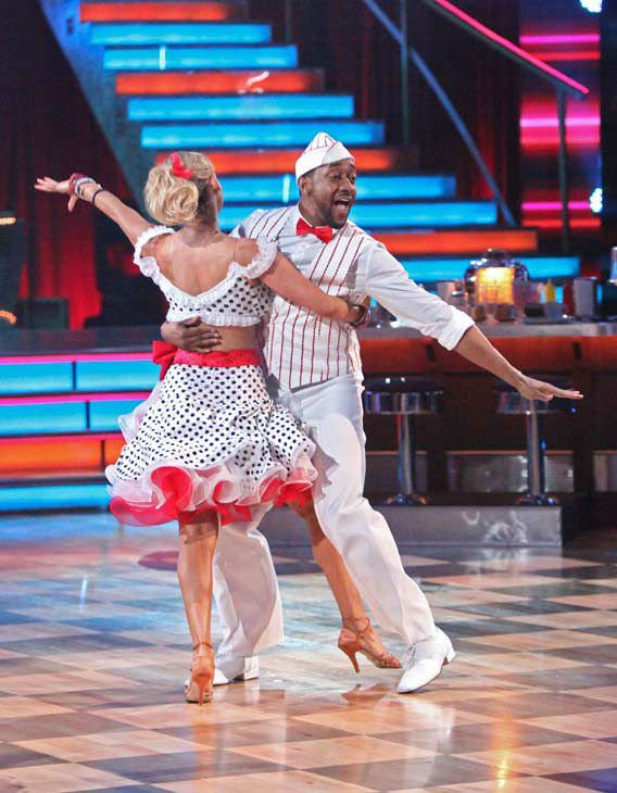Jaleel White, who played Steve Urkel on 'Family Matters,' and his partner Kym Johnson re