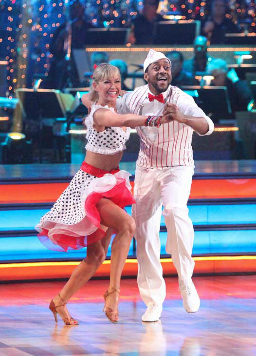 "<div class=""meta image-caption""><div class=""origin-logo origin-image ""><span></span></div><span class=""caption-text"">Jaleel White, who played Steve Urkel on 'Family Matters,' and his partner Kym Johnson received 22 out of 30 points from the judges for their jive on week two of 'Dancing With The Stars,' which aired on March 26, 2012. (ABC Photo/ Adam Taylor)</span></div>"