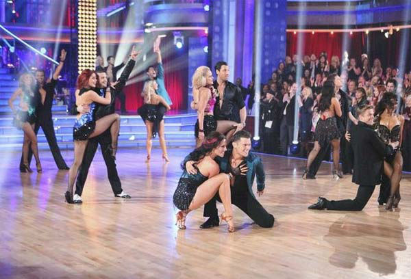The 'Dancing With The Stars' pros and Dance Troupe perform on 'Dancing With The Stars: The Resul