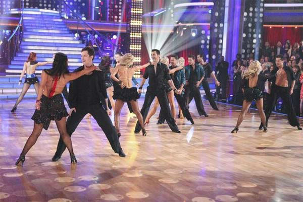 The 'Dancing With The Stars' pros and Dance Troupe perform on 'Dancing With The Stars: The Result Show' on Tuesday, March 27, 2012.
