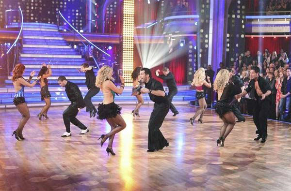 The 'Dancing With The Stars' pros and Dance Troupe perform on 'Dancing With The Stars: The Result Show' on Tu