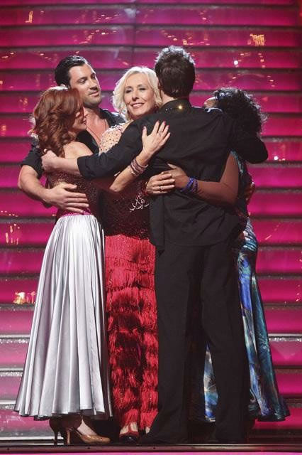Tennis legend Martina Navratilova and her partner Tony Dovolani react to being eliminated on 'Dancing With T