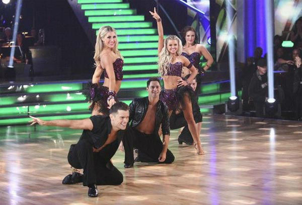 The 'Dancing With The Stars' pros and Dance Troupe perform on 'Dancing With The Stars: The Result Show'