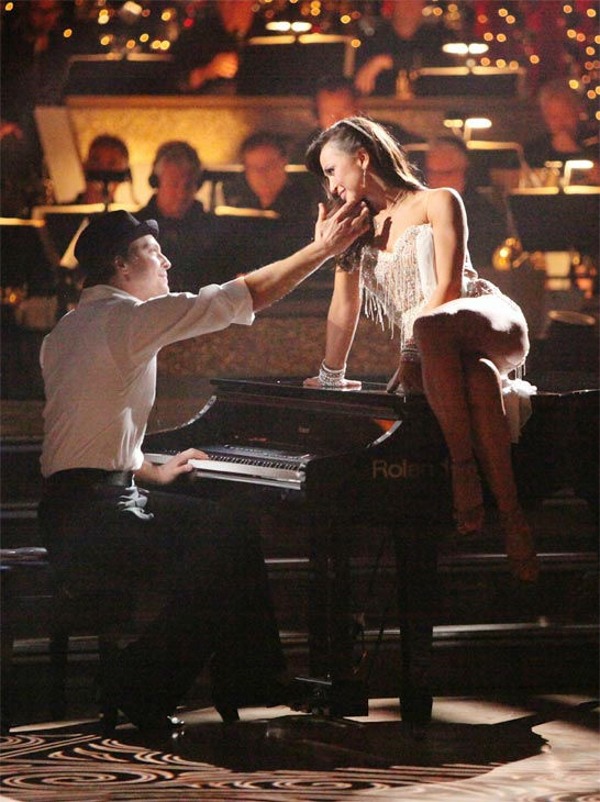 Singer Gavin DeGraw and his partner Karina Smirnoff received 24 out of 30 points from the judges for their Rumba on week three of 'Dancing With The Stars,' which aired on April 2, 2012.