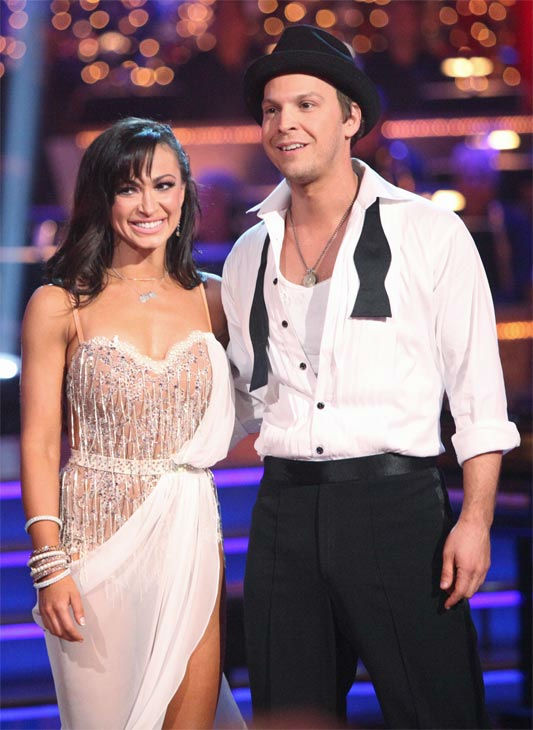 "<div class=""meta ""><span class=""caption-text "">Singer Gavin DeGraw and his partner Karina Smirnoff received 24 out of 30 points from the judges for their Rumba on week three of 'Dancing With The Stars,' which aired on April 2, 2012. (ABC/Adam Taylor)</span></div>"