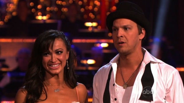 Singer Gavin DeGraw and his partner Karina Smirnoff received 24 out of 30 points from the judges for their Rumba on week three of &#39;Dancing With The Stars,&#39; which aired on April 2, 2012. <span class=meta>(ABC Photo)</span>