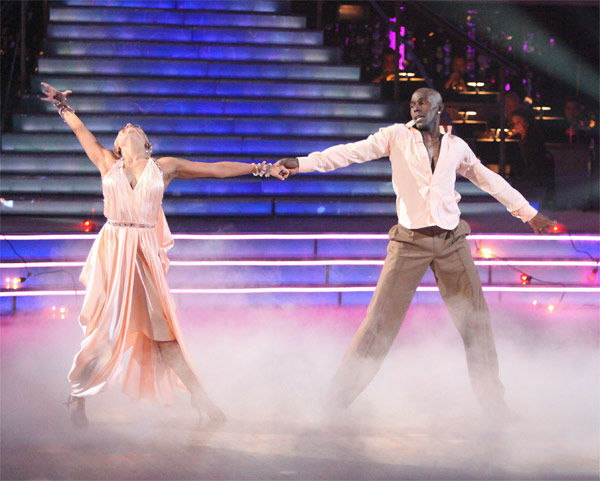 Football star Donald Driver and his partner Peta Murgatroyd received 26 out of 30 points from the judges for their Rumba on week three of