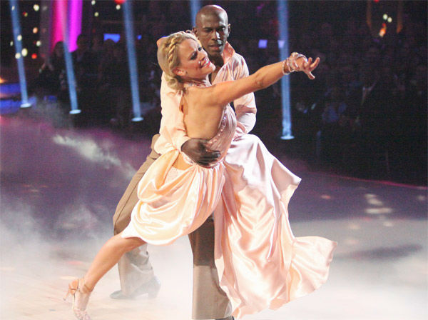 Football star Donald Driver and his partner Peta Murgatroyd received 26 out of 30 points from the judges for their Rumba on wee