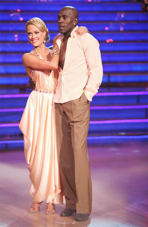 Football star Donald Driver and his partner Peta Murgatroyd received 26 out of 30 points from the judges for their Rumba on week three of &#39;Dancing With The Stars,&#39; which aired on April 2, 2012. <span class=meta>(ABC&#47;Adam Taylor)</span>