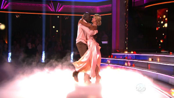 "<div class=""meta ""><span class=""caption-text "">Football star Donald Driver and his partner Peta Murgatroyd received 26 out of 30 points from the judges for their Rumba on week three of 'Dancing With The Stars,' which aired on April 2, 2012.  (ABC Photo)</span></div>"