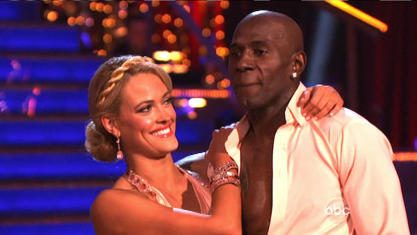 Football star Donald Driver and his partner Peta Murgatroyd received 26 out of 30 points from the judges for their Rumba on week three of &#39;Dancing With The Stars,&#39; which aired on April 2, 2012.  <span class=meta>(ABC Photo)</span>